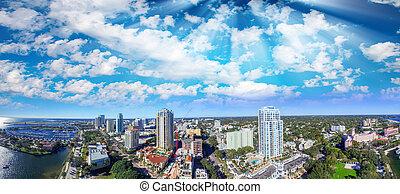 antenna, florida, st petersburg, napnyugta, kilátás