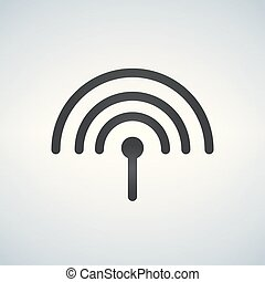 Antenna icon, vector illustration isolated on White background.