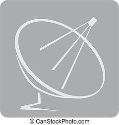 Antenna - Illustration of dish antenna in grey board