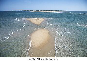 antenna, közül, tengerpart.