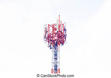 Antenna on white background