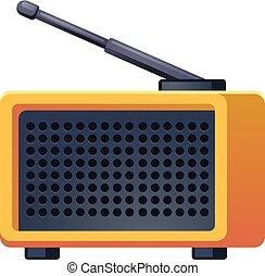 Antenna radio icon, cartoon style