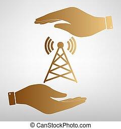 Antenna sign Golden Effect.