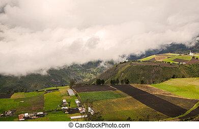 antenna, tungurahua, vulkán, kilátás