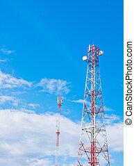 Antenna with blue sky