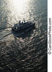 antenne, ferryboat.