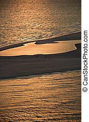 antenne, i, strand.