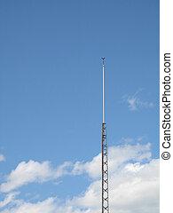 antenne, in, der, blauer himmel