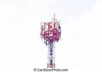 antenne, op wit, achtergrond