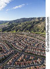 antenne, portier, ranch, californien