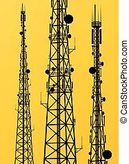antenne, uitzending, communicatie, signaal, telefoon, radio toren