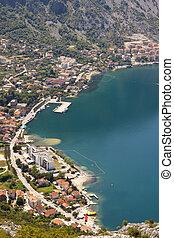 antennen beskådar, på, risan, -, montenegro