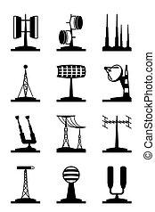 antenner, locators, olika