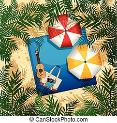 antenowy prospekt, lato, plaża