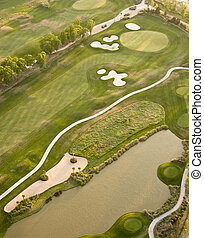 antenowy prospekt, od, golfowy bieg
