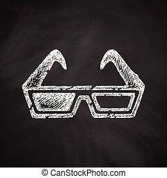 anteojos de 3d, icono