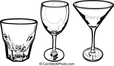 anteojos de bebida