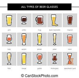 anteojos de cerveza