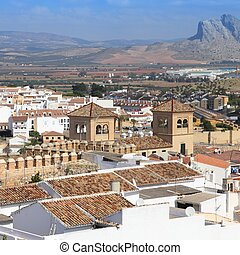 Andalusia - Antequera in Andalusia region of Spain. Aerial ...