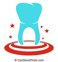Anterior tooth icon, flat style.