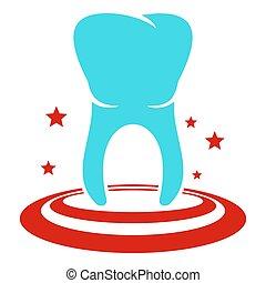 Anterior tooth icon, flat style.