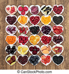Anthocyanin Health Food Concept - Anthocyanin health food...