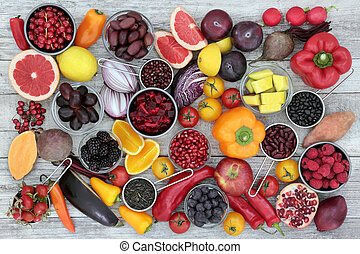 Anthocyanin Health Food - Health food concept for fitness...