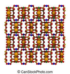 Anthophyllite asbestos, crystal structure - Crystal...