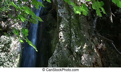 Anthousa waterfall nature Parga Greece