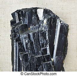anthracite - black crystal mineral