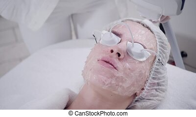 Anti acne phototherapy with professional equipment....