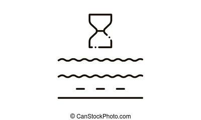 anti-aging cream action Icon Animation. black anti-aging cream action animated icon on white background