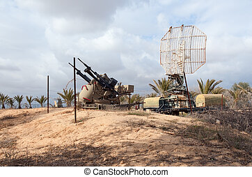 Anti-air position in the desert