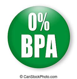 anti bisphenol A (BPA) sign logo