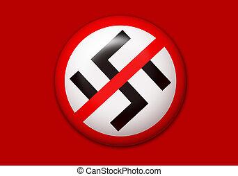 anti, botón, nazi