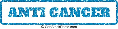 Anti Cancer Rubber Stamp - Blue rubber seal stamp with Anti...