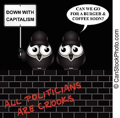 Anti capitalism protest - Comical contradictory anti ...