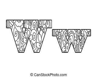 Anti coloring book alphabet, the letter d vector... vector clip art ...