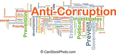 Anti-corruption background concept