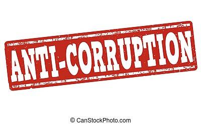 Anti-corruption grunge stamp