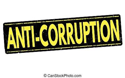 anti-corruption, grunge, tłoczyć