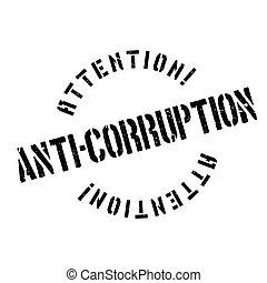 Anti-Corruption rubber stamp. Grunge design with dust ...