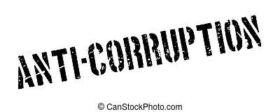 Anti-Corruption rubber stamp on white. Print, impress,...