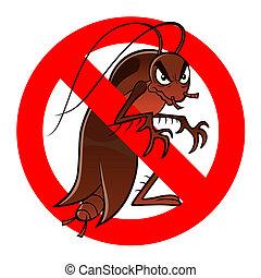 anti, cucaracha, señal