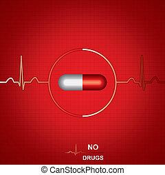 anti, droge, hintergrund, medizin