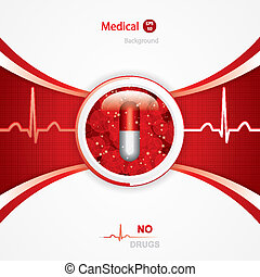 Anti drug medical background.Vector