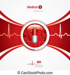 Anti drug medical background. Vector