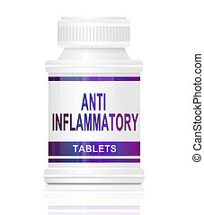 Anti inflammatory medication. - Illustration depicting a...