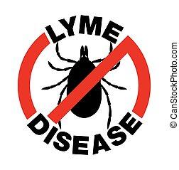 Anti Lyme Disease Tick Bite Icon - An anti Lyme Disease tick...