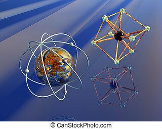 Anti Matter and Iron atom.